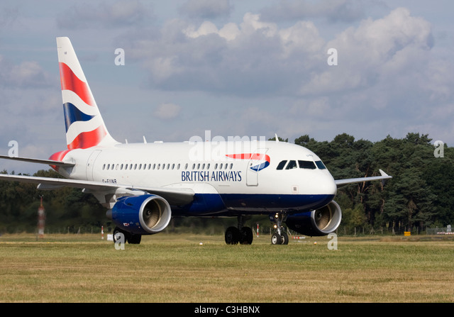 British Airways Airbus A318-112 CJ Elite Club World London City Business Class only service flying between London - Stock Image