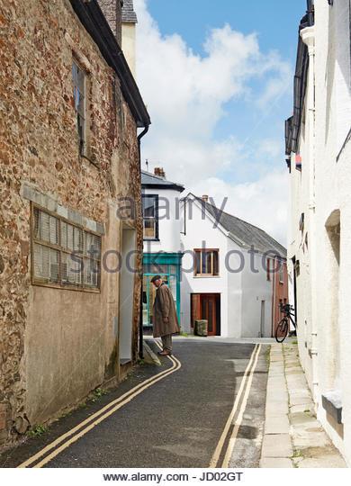 Street view. Studio Totnes, Totnes, United Kingdom. Architect: David Sheppard Architects, 2016. - Stock-Bilder
