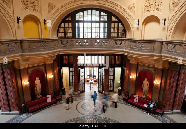 Entrance Hall, Gellert Baths, Budapest, Hungary - Stock Image