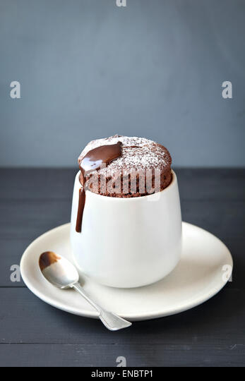 Homemade  individual chocolate souffle - Stock Image