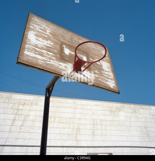 Amman, Basketball hoop - Stock Image