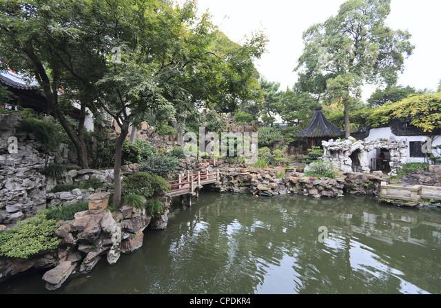 Rockery, Yu Yuan (Yuyuan) Gardens, Shanghai, China, Asia - Stock Image