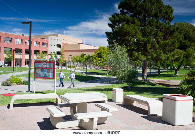 UNLV Main/Paradise Campus, Las Vegas, Clark County, Nevada, USA - Stock Image