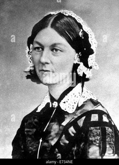 Florence Nightingale is famous for her nursing work during the Crimean War (1854 - 56).  From the Archives of Press - Stock Image