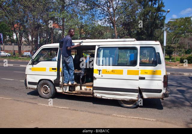 Matatu minivan in Nairobi, Kenya - Stock Image
