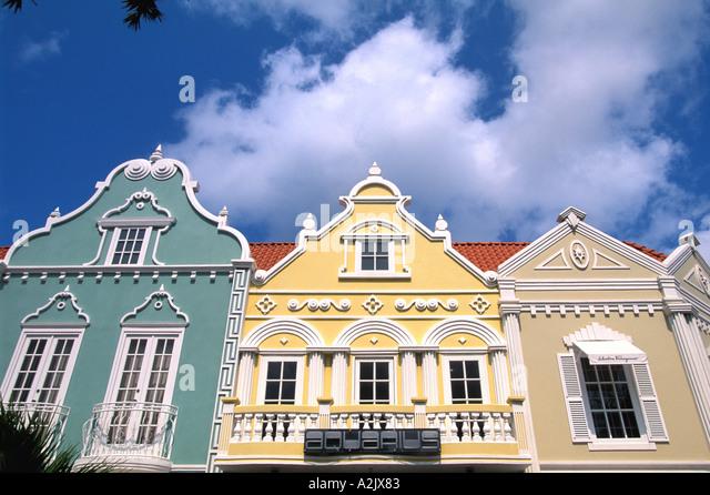 Aruba Oranjestad Shopping Center Building Facades - Stock Image