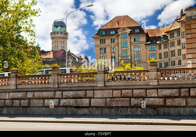 Center of Zurich - Stock Image