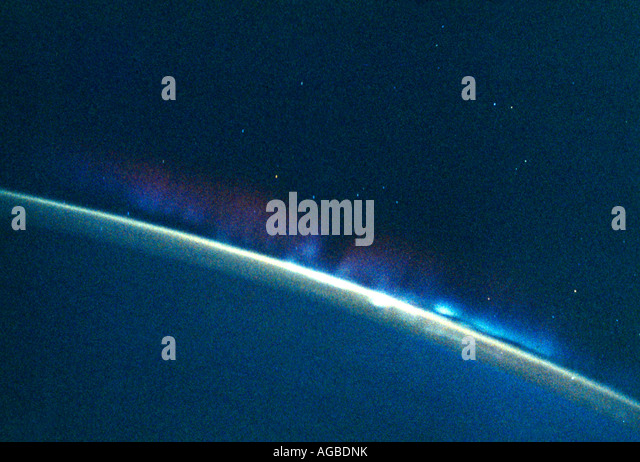 Earths Layers Atmosphere - Stock Image