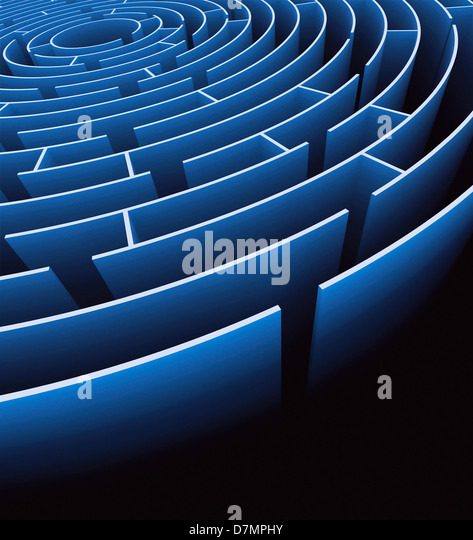 Maze, artwork - Stock Image