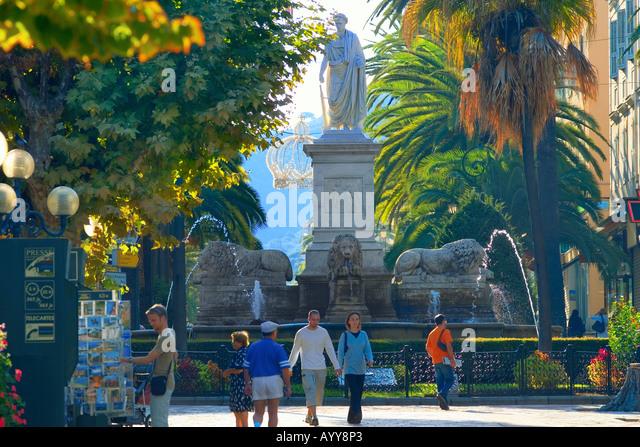 Marechal Foch square in Ajaccio Corsica France - Stock Image