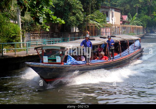 Thailand Bangkok Pathum Wan Saen Saeb Canal water taxi boat express ferry - Stock Image