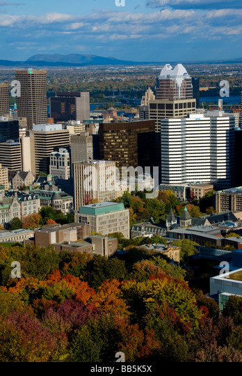 Canada, Quebec, Montreal cityscape - Stock Image