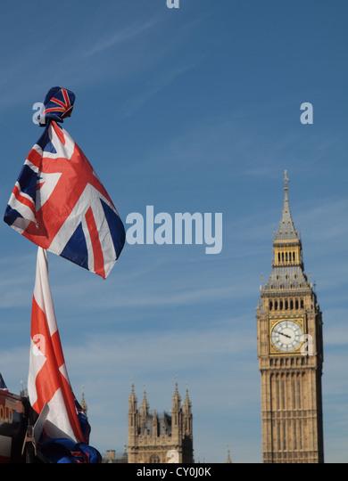 Union Jack national flag of the United Kingdom (UK) - Stock Image