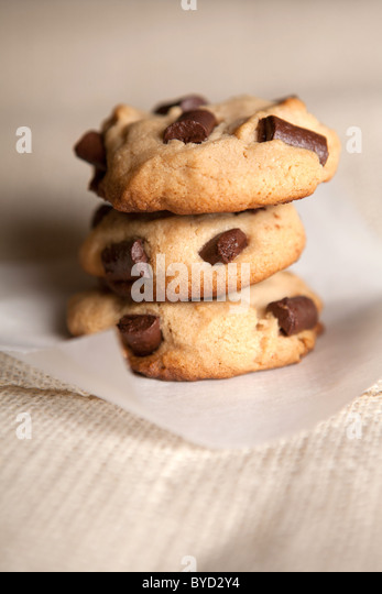 Chocolate chip cookies - Stock Image
