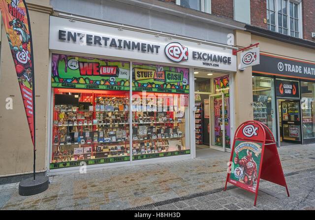 Entertainment Exchange,  second hand electronics shop, - Stock Image