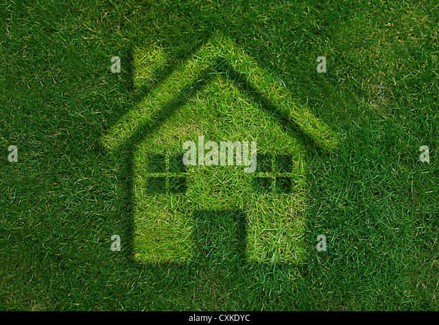 ecology concept, Green home green world. - Stock-Bilder