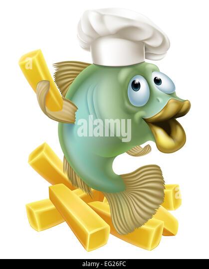 Fish N Chips Cartoon Characters : Drawing sea bass stock photos