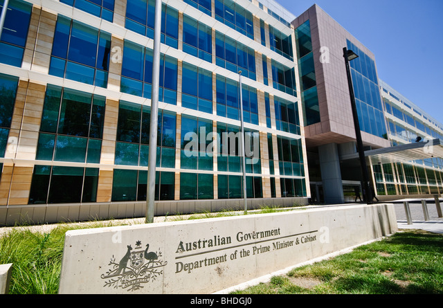 The office building for the Department of the Prime Minister and Cabinet. - Stock Image