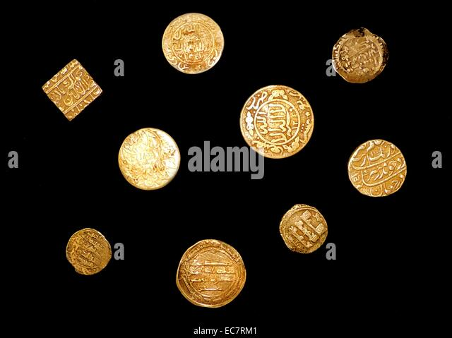 A collection of Antique Islamic Coins. - Stock-Bilder