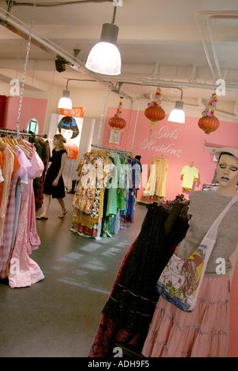 Berlin Kreuzberg designer store Bergmannstreet - Stock Image