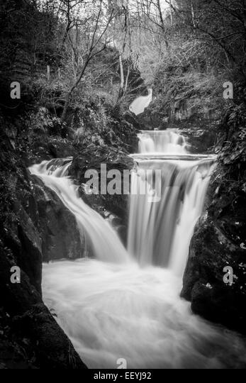 Small waterfall in countryside - Stock-Bilder