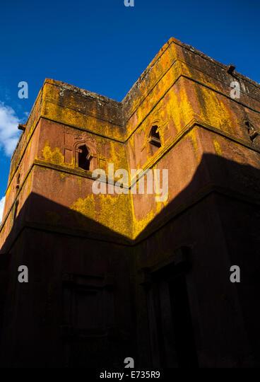 Monolithic Rock-cut Church Of Bete Giyorgis, Lalibela, Ethiopia - Stock Image