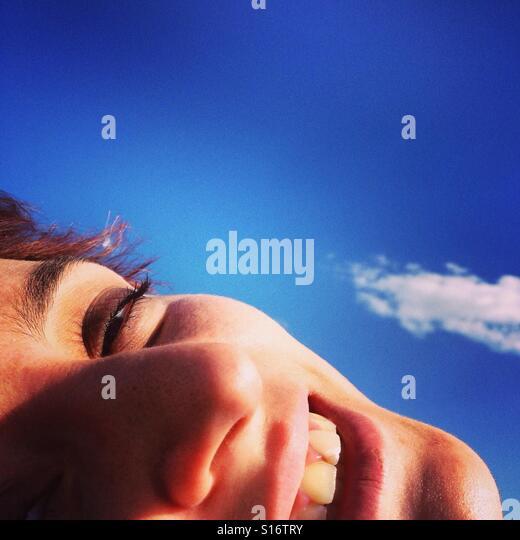 Girl in the sky - Stock-Bilder