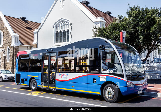 Cape Town South Africa African Woodstock Roedebloom Road MyCiTi bus public transportation - Stock Image
