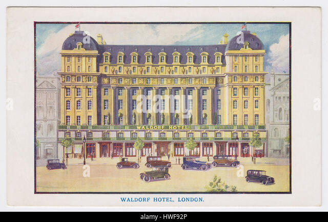 The Waldorf Hotel & Aldwych, London, United Kingdom - Stock Image
