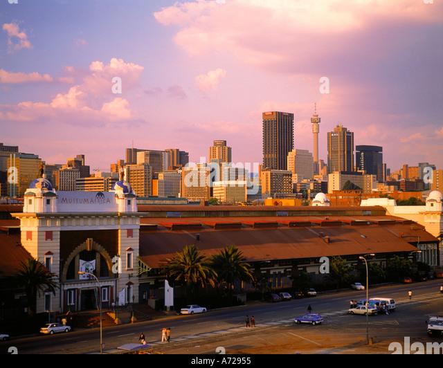 Johannesburg skyline Witwatersrand Gauteng Transvaal South Africa - Stock Image