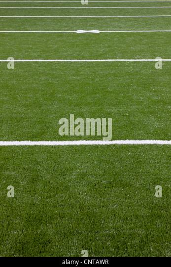 Football field, close-up - Stock-Bilder