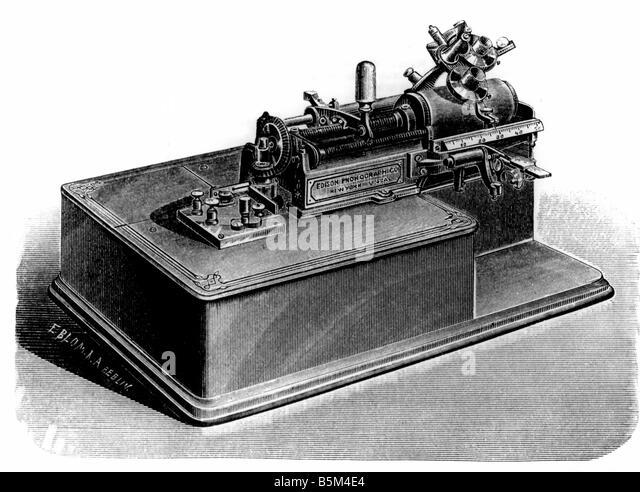 Thomas Alva Edison Phonograph Stock Photos Amp Thomas Alva