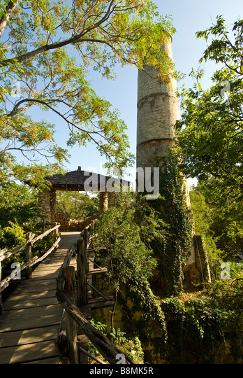 San Antonio Japanese Tea Gardens or Sunken Gardens registered Texas historical landmark - Stock Image