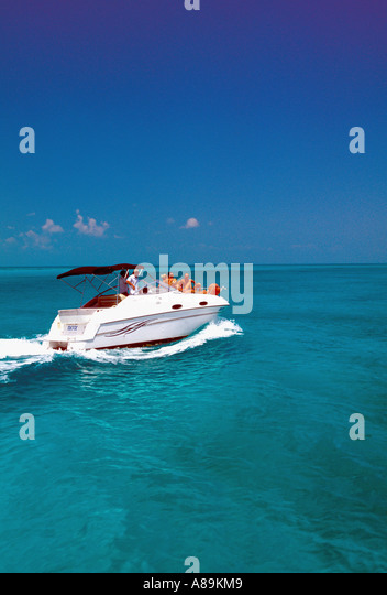 Tropics tropical fast boat - Stock Image