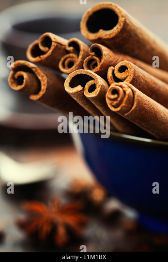 Close up of coffee and spices - Stock Image