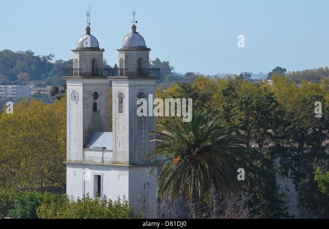 Basilica Santisimo del Sacremento, Colonia del Sacremento, Uruguay - Stock Image