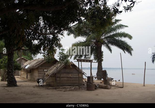 Ubangi River ,Betou ,Republic of the Congo - Stock-Bilder