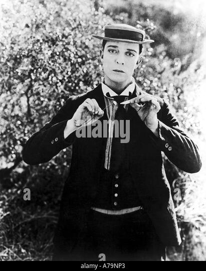 BUSTER KEATON US silent films comedian - Stock Image