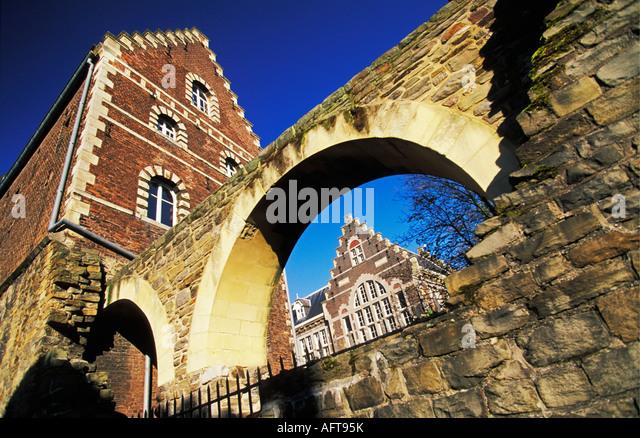 Netherlands Maastricht Still visual part of the historical city wall - Stock-Bilder