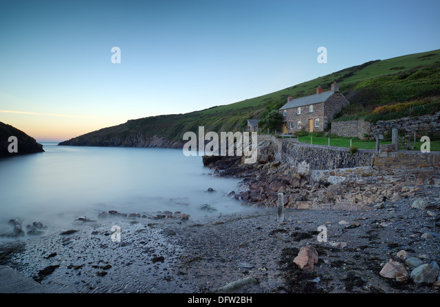 Port Quin a tiny and historic fishing village tucked away on the north Cornwall coast - Stock Image