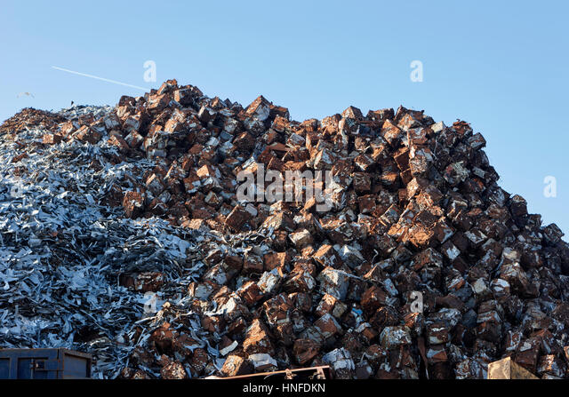 metal recycling plant liverpool uk - Stock Image