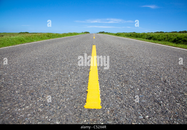 close up surface of empty road - Stock Image