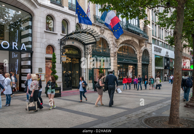 Champs elysees shops stock photos champs elysees shops stock images a - H m avenue des champs elysees ...