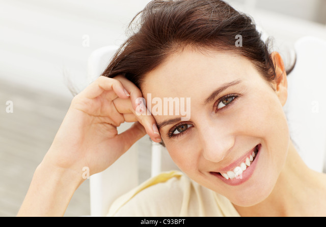 Portrait woman outdoors - Stock Image