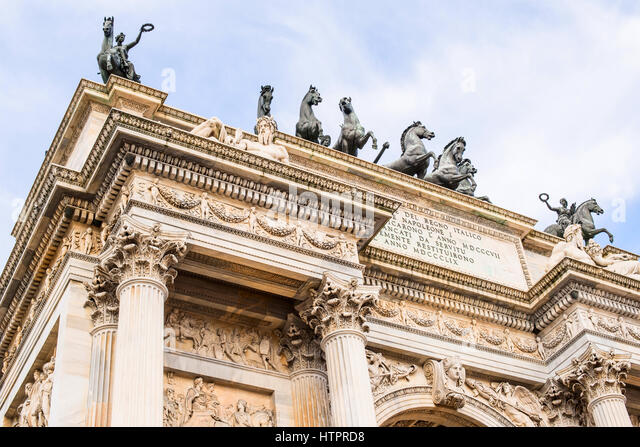 Arch of Peace Milan Italy - Stock Image
