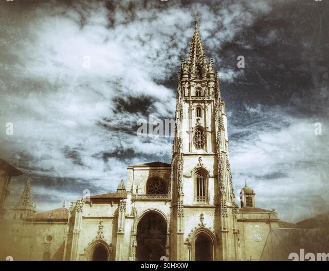 Cathedral in Oviedo, Asturias, Spain - Stock Image