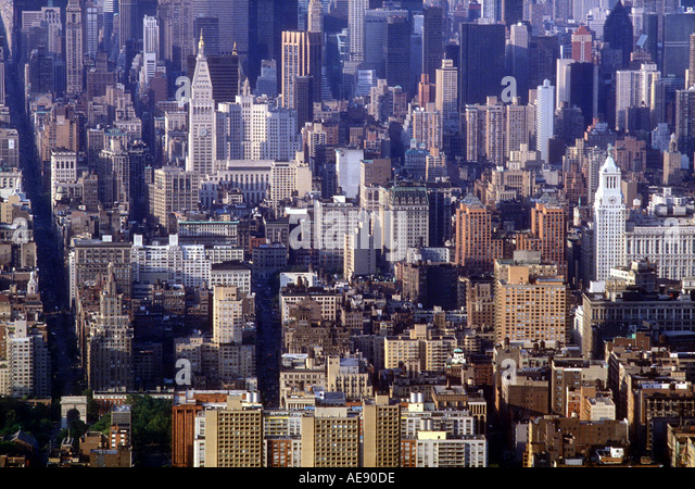 New York City skyline Manhattan New York USA - Stock Image