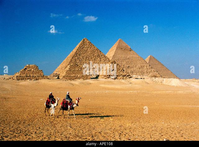 Egypt, Cario, The Great Pyramids of Giza - Stock Image