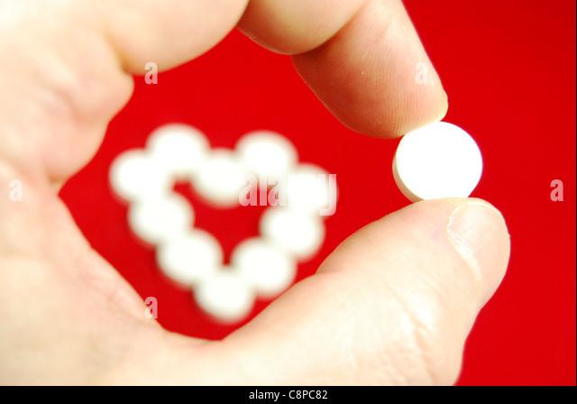 Heart disease medication - Stock Image