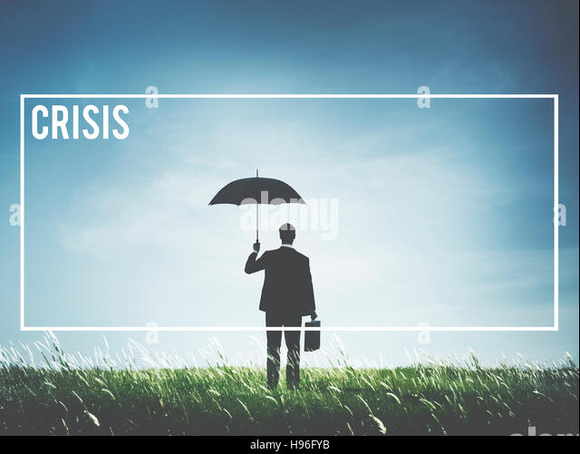 Crisis Loss Recession Catastrophe Risk Turning Point Concept - Stock Image